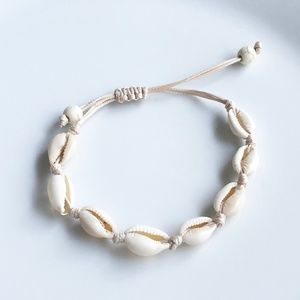 NEW Natural Pooka Shell Bracelet (beige rope)